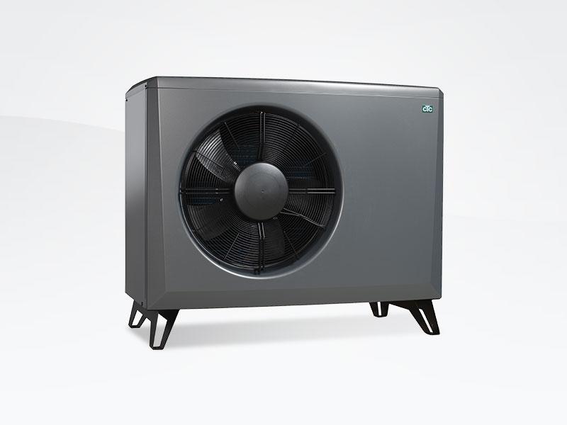 Grå CTC Eco Air Varmepumpe. Modulerende luft til vand varmepumpe