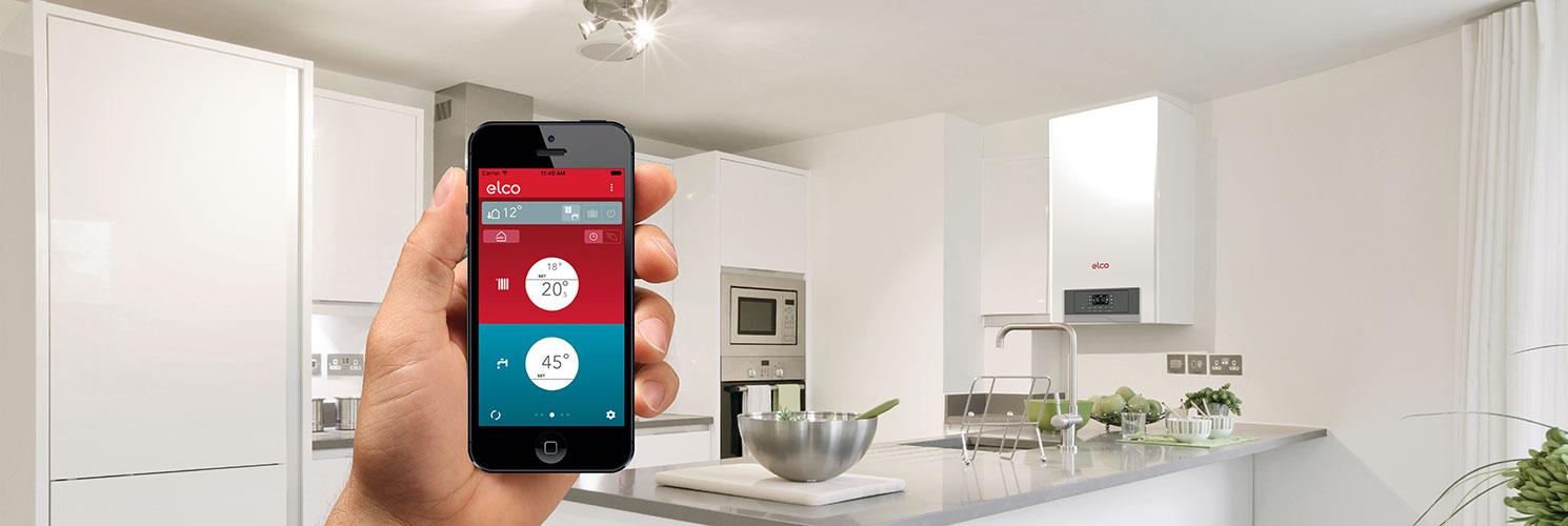 Med ELCO's Remocon-Net app kan du betjene din varmeløsning