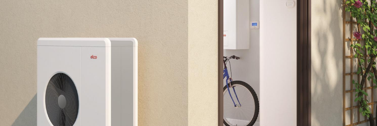 ELCO Aerotop Mono udedel monteret op af væg, indedel moneret på væg indenfor over blå cykel