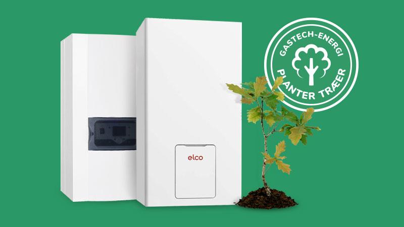 Gasfyr med et lavt energiforbrug og en attraktiv serviceaftale