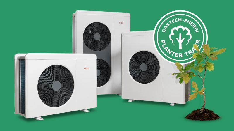 Varmepumpe med et lavt energiforbrug og en attraktiv serviceaftale
