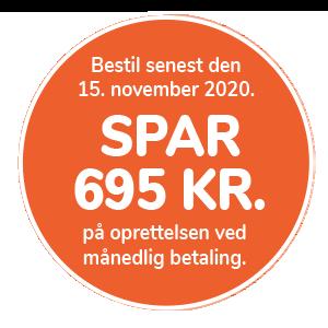 Spar 695 kr. på en serviceaftale til dit gasfyr