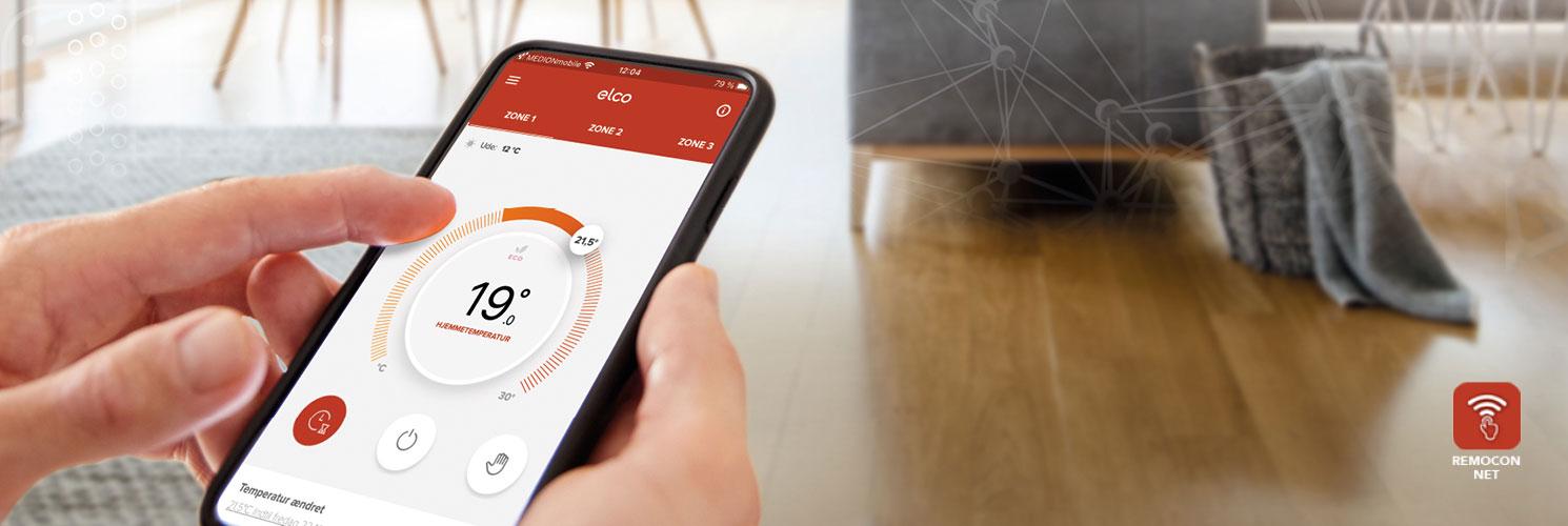 Med ELCO's Remocon NET app kan du betjene din varmeløsning